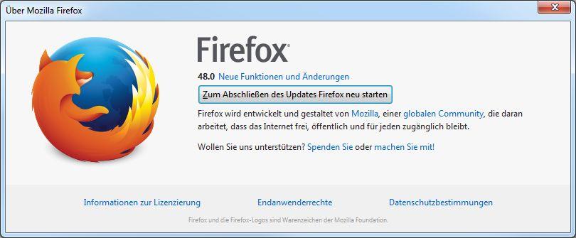 Firefox-Info Update ready